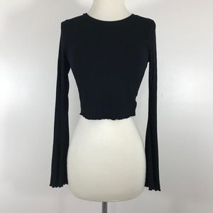 River Island Tight Long Sleeve Crop Top - Size 6